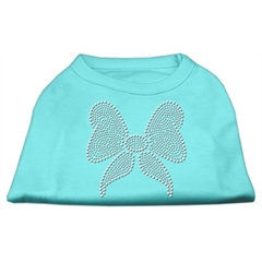 Mirage Pet Products Rhinestone Bow Shirts Aqua XL (16)