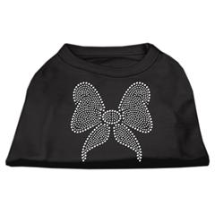 Mirage Pet Products Rhinestone Bow Shirts Black XXL (18)