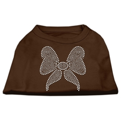 Mirage Pet Products Rhinestone Bow Shirts Brown Sm (10)