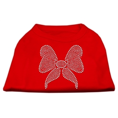 Mirage Pet Products Rhinestone Bow Shirts Red XXL (18)