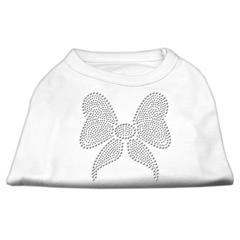 Mirage Pet Products Rhinestone Bow Shirts White XXXL(20)