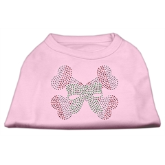 Mirage Pet Products Candy Cane Crossbones Rhinestone Shirt Light Pink XXL (18)