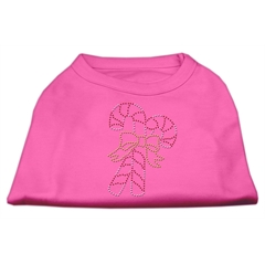 Mirage Pet Products Candy Cane Rhinestone Shirt Bright Pink S (10)