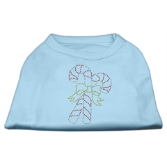 Mirage Pet Products Candy Cane Rhinestone Shirt Baby Blue XS (8)