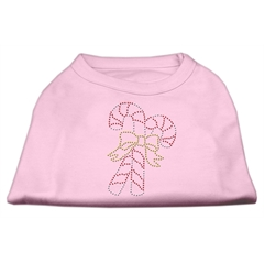 Mirage Pet Products Candy Cane Rhinestone Shirt Light Pink XXL (18)