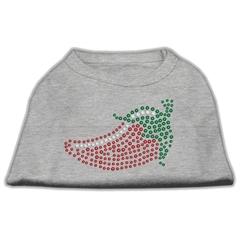 Mirage Pet Products Rhinestone Chili Pepper Shirts Grey XS (8)
