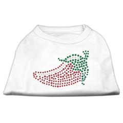 Mirage Pet Products Rhinestone Chili Pepper Shirts White XXL (18)