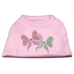 Mirage Pet Products Christmas Bows Rhinestone Shirt Light Pink XS (8)