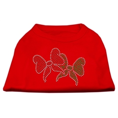 Mirage Pet Products Christmas Bows Rhinestone Shirt Red M (12)
