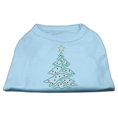 Mirage Pet Products Christmas Tree Rhinestone Shirt Baby Blue L (14)