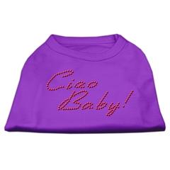 Mirage Pet Products Ciao Baby Rhinestone Shirts Purple XXL (18)