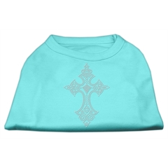 Mirage Pet Products Rhinestone Cross Shirts Aqua XXL (18)