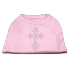 Mirage Pet Products Rhinestone Cross Shirts Light Pink S (10)