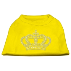 Mirage Pet Products Rhinestone Crown Shirts Yellow XL (16)