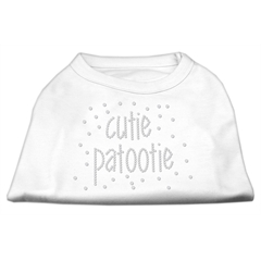 Mirage Pet Products Cutie Patootie Rhinestone Shirts White XXXL (20)