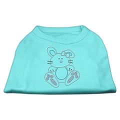 Mirage Pet Products Bunny Rhinestone Dog Shirt Aqua XL (16)