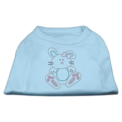 Mirage Pet Products Bunny Rhinestone Dog Shirt Baby Blue XXL (18)