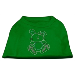 Mirage Pet Products Bunny Rhinestone Dog Shirt Emerald Green Med (12)