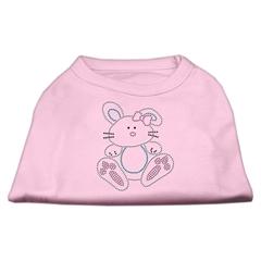 Mirage Pet Products Bunny Rhinestone Dog Shirt Light Pink XS (8)