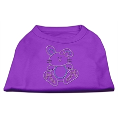 Mirage Pet Products Bunny Rhinestone Dog Shirt Purple XS (8)