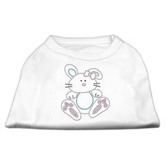 Mirage Pet Products Bunny Rhinestone Dog Shirt White XL (16)