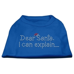 Mirage Pet Products Dear Santa I Can Explain Rhinestone Shirts Blue Sm (10)