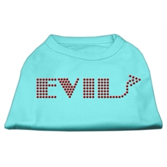 Mirage Pet Products Evil Rhinestone Shirts Aqua M (12)