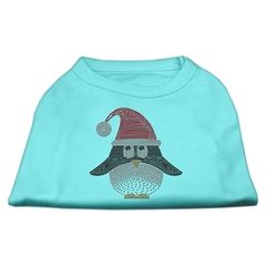 Mirage Pet Products Santa Penguin Rhinestone Dog Shirt Aqua XL (16)