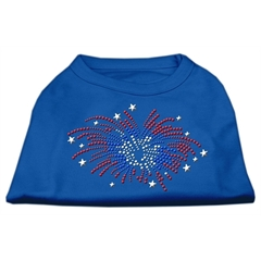 Mirage Pet Products Fireworks Rhinestone Shirt Blue XS (8)