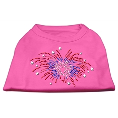 Mirage Pet Products Fireworks Rhinestone Shirt Bright Pink S (10)