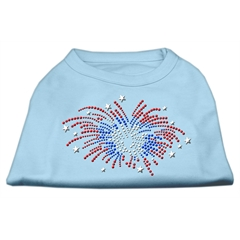 Mirage Pet Products Fireworks Rhinestone Shirt Baby Blue XXL (18)