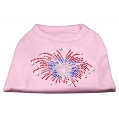 Mirage Pet Products Fireworks Rhinestone Shirt Light Pink S (10)