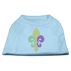 Mirage Pet Products Mardi Gras Fleur De Lis Rhinestone Dog Shirt Baby Blue XXL (18)