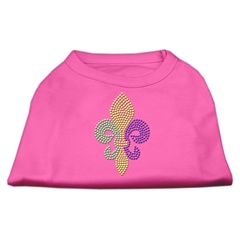 Mirage Pet Products Mardi Gras Fleur De Lis Rhinestone Dog Shirt Bright Pink Sm (10)