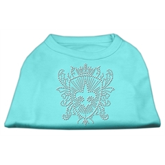 Mirage Pet Products Rhinestone Fleur De Lis Shield Shirts Aqua XXXL(20)
