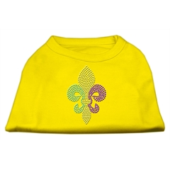 Mirage Pet Products Mardi Gras Fleur De Lis Rhinestone Dog Shirt Yellow Sm (10)