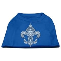 Mirage Pet Products Silver Fleur de Lis Rhinestone Shirts Blue Sm (10)