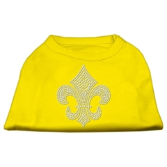 Mirage Pet Products Silver Fleur de Lis Rhinestone Shirts Yellow Sm (10)