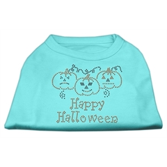 Mirage Pet Products Happy Halloween Rhinestone Shirts Aqua XS (8)