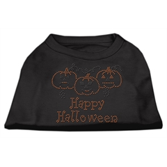 Mirage Pet Products Happy Halloween Rhinestone Shirts Black XXL (18)