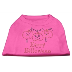 Mirage Pet Products Happy Halloween Rhinestone Shirts Bright Pink XXL (18)