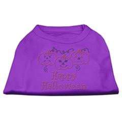 Mirage Pet Products Happy Halloween Rhinestone Shirts Purple XXL (18)