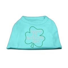 Mirage Pet Products Happy St. Patrick's Day Rhinestone Shirts Aqua S (10)