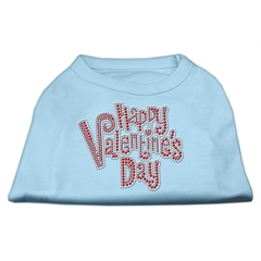 Mirage Pet Products Happy Valentines Day Rhinestone Dog Shirt Baby Blue Lg (14)