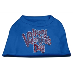 Mirage Pet Products Happy Valentines Day Rhinestone Dog Shirt Blue Sm (10)