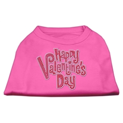 Mirage Pet Products Happy Valentines Day Rhinestone Dog Shirt Bright Pink Sm (10)
