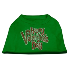 Mirage Pet Products Happy Valentines Day Rhinestone Dog Shirt Emerald Green XXXL (20)