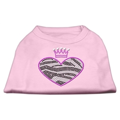 Mirage Pet Products Zebra Heart Rhinestone Dog Shirt Light Pink Sm (10)