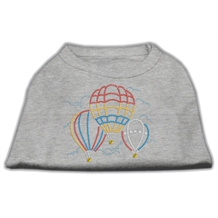 Mirage Pet Products Hot Air Balloon Rhinestone Shirts Grey L (14)
