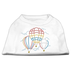 Mirage Pet Products Hot Air Balloon Rhinestone Shirts White L (14)